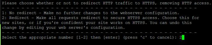 Redirection http/ https