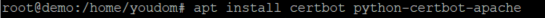 apt install certbot python-certbot-apache
